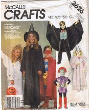 Wizard Super Hero Robot Witch Princess Dracula Costume Sewing Pattern Sz 6 8