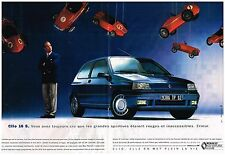 Publicité Advertising 1992 (2 pages) Renault Clio 16 S