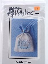 Holly House Designs Wintertime Snowman Chart  Pattern  Counted Cross Stitch