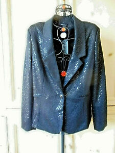 WOMEN'S SEQUINED JACKET - New ~ Size L