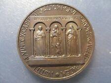 VATICANO MEDALLA ANUAL OFICIAL PAPA PIO XII 1956 JUSTICIA CARIDAD Y PAZ BRONZE