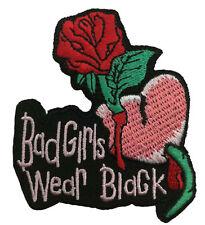 BAD GIRLS WEAR BLACK PATCH BIKER EMBLEM
