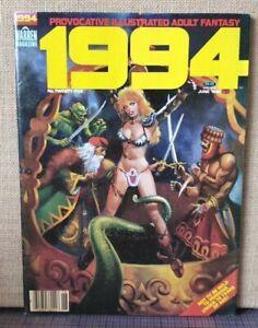 1994 no.25 June 1982 illustrated adult fantasy WARREN magazine