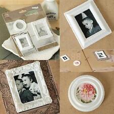 Vintage White Victorian Frames Resin Embellishments Flatback Crafts 3pcs Set