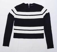 Zara Womens Size L Striped Black Jumper (Regular)