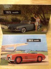 1960 Mercedes Benz Sales Postcards 160SL 300SL 180 190 220 300 60