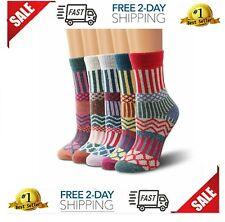 Womens Fun Crew Cozy Comfy Warm Winter Boot Socks For Women Casual Bombas Wool..
