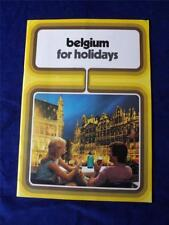 BELGIUM FOR HOLIDAYS TRAVEL BOOKLET BROCHURE POCKET GUIDE TOURIST INFORMATION