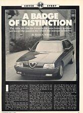1990 1991 Alfa Romeo 164 Original Car Review Print Article J574