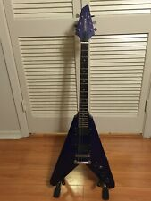 1990's Samick Artist Series Flying V Guitar - Purple - MIK - EMG-HZ