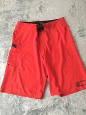 OAKLEY MEN'S Red Board Shorts SIZE 30