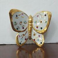 Polaris Porcelain Butterfly Swarovski Crystals Capodimonte Figurine Italy