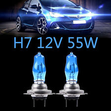 2Pcs H7 12V 55W White 6000k Halogen Blue Car Head Light Lamp Globes / Bulbs