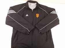 Adidas Mens Black San Francisco Giants Full Zip Windbreaker Jacket Size Medium