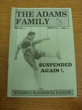1992/1993 Wycombe Wanderers: fanzine-La Famiglia Adams, numero 05 DICEMBRE 1992.