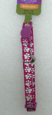 *New* Whisker City Breakaway Reflective Pink & Silver Paws Cat Collar 8-12 in.