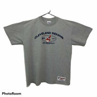 Cleveland Indians Vintage T-Shirt Chief Wahoo Heather Grey USA Majestic Size XL