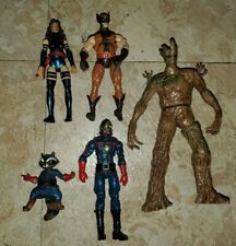 "MARVEL UNIVERSE 3.75"" Lot 5 Psylocke Wolverine Guardians of the galaxy  X-Men"