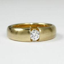 Reinheit SI Sehr gute Echte Diamanten-Ringe aus Gelbgold mit Brilliantschliff