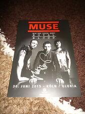 Muse Matthew Bellamy + Chris Signed Autographs on 20x30 cm AK InPerson RARE