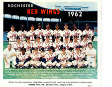 1962 ROCHESTER RED WINGS TEAM 8X10  PHOTO VIRGIL WARD  BASEBALL NEW YORK