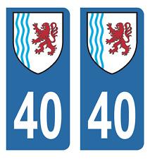 Autocollant Stickers plaque d'immatriculation véhicule département 40 Landes