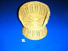 Vintage Barbie Size Doll Wicker Furniture Piece Part Accessory # 4 chair seat