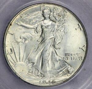 1946-P 1946 Liberty Walking Half Dollar ICG-MS64