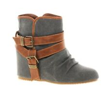 552fb9574a4 Aldo Wedge Booties Gray straps 11 Womens Elyta fall ankle boot