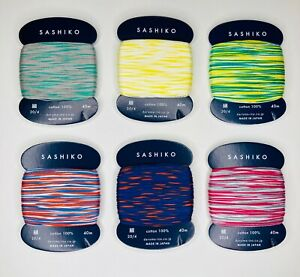Yokota Daruma 20/4 Thin Sashiko Thread 40 Meter Skein 100% Cotton 33 Colors