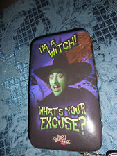 "THE WIZARD OF OZ CELL/ WALLET ""I'M A WITCH! WHAT'S YOUR EXCUSE? WITH STRAP EUC"