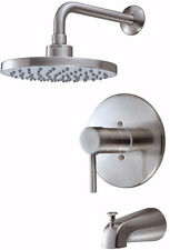 Hardware House 13-5627 Single Handle Tub and Shower Mixer Faucet Satin Nickel