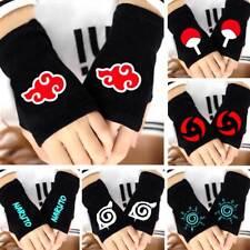 Anime Akatsuki Leaf Uchiha Itachi Kakashi Sharingan Fingerless Gloves Mittens