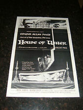 """HOUSE OF USHER Re-release Original 1967 Movie Poster, 27"""" x 41"""", C7.5 Very Fine-"""