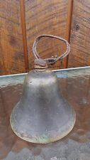 """Vintage Brass Horse Bell Large 3 1/4"""" High Beautiful Patina"""