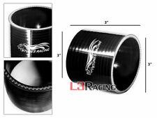"Black 3.0"" 76mm 3-ply Silicone Hose Coupler Turbo Intake Intercooler For Hyundai"