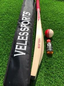 English Willow Cricket Bat Grade 1st Full Size cricket Bat+Leather Ball+Bat Oil
