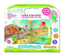 STICKABOUTS DINOSAURS GLUE FREE ACTIVITY STICKERS & PLAY BOARD BY FIESTA CRAFTS