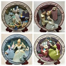 Beautiful Four Piece Cinderella Disney 3D Plates *SET*