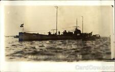 Great White Fleet RPPC German Submarine Real Photo Post Card Vintage