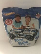 Hot Wheels Car Floor Puzzle 46 Pieces Large 3-Foot Puzzle in Storage Bag NEW