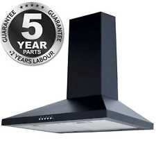 SIA CHL61BL 60cm Chimney Cooker Hood Kitchen Extractor Fan In Black