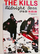 THE KILLS MIDNIGHT BOOM 2008 ORIGINAl PROMOTIONAL POSTER FOR THE ALBUM