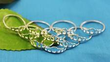 Wholesale Lots 10pcs  Silver  Hollow Crown CZ out rings 6-9