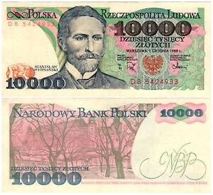 Poland 10,000 Złotych P#151b (1988) Narodowy Bank Polski XF