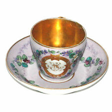 CHARMANTE TASSE EN PORCELAINE DE PARIS EPOQUE RESTAURATION  DECOR FLORAL PEINT