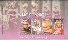 Ghana 2007 Marilyn Monroe/Cinéma/Film/Les gens/personnalités 4 V M/S (n33395)