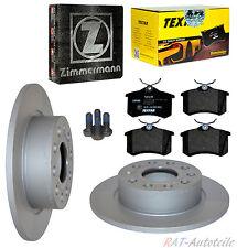 Zimmermann Bremsscheiben+Belägesatz HA VW SCIROCCO 137,138 1.4 TSI 118KW 160 PS