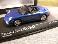 1/64 Minichamps Porsche 911 Carrera 4S Cabrio blau met. 640066470