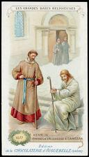 santino-holy card AIGUEBELLE-grandi date religiose-ENRICO IV  GERMANIA A CANOSSA